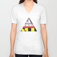 maryland V-neck T-shirts featuring Maryland by Jason Douglas Griffin