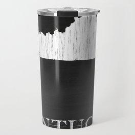 Kentucky State Map Chalk Drawing Travel Mug