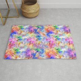 Abstract color burst Rug