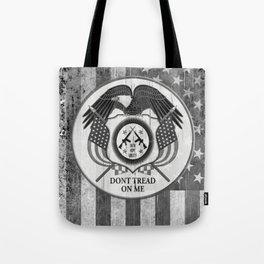 Faith Hope Liberty & Freedom Eagle on US flag Tote Bag