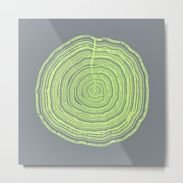 Green tree ring Metal Print