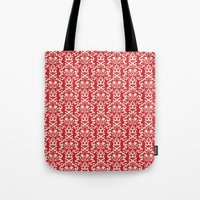 damask Tote Bags featuring Damask by AbstractCreature