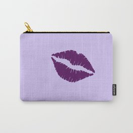 Violet Kiss on Light violet Background Carry-All Pouch