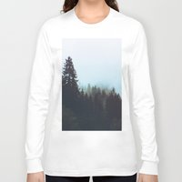 washington Long Sleeve T-shirts featuring Washington Woodlands  by Leah Flores