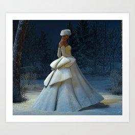 Snow Stride Art Print
