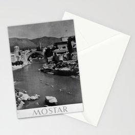 retro monochrome Mostar Stationery Cards