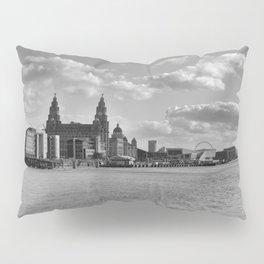 Liverpool Skyline Mono Pillow Sham
