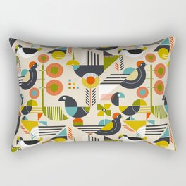 Bauhaus style birds Rectangular Pillow