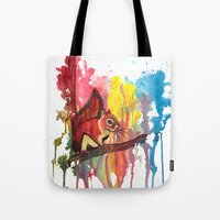 squirrel Tote Bags featuring Squirrel by Halfmoon Industries