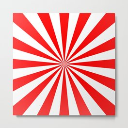 Starburst (Red/White) Metal Print