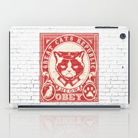 obey iPad Cases featuring OBEY by solomnikov