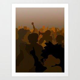 Women Marching (Chocolate Version) Art Print