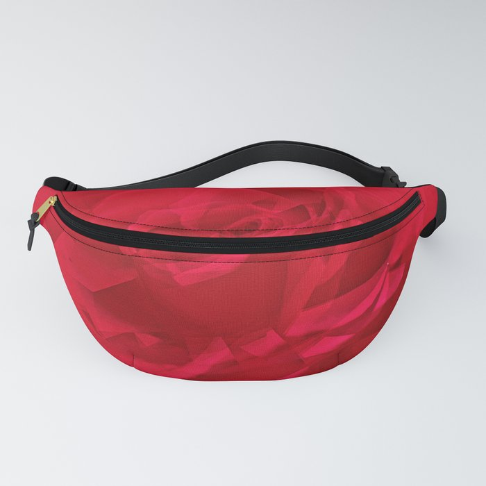 Bloomed Rose Profound Red Fanny Pack