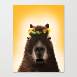Capybara Shining Canvas Print
