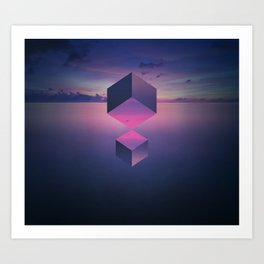 Cuboid Art Print
