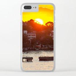 Sunset on Snails Bay, Birchgrove, Sydney Clear iPhone Case
