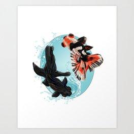 Goldfish Bowl (2 of 3) Art Print