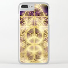 Geometry Peace Reflections Clear iPhone Case