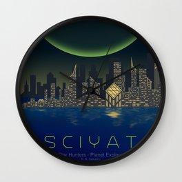 Planet Exploration: Sciyat Wall Clock