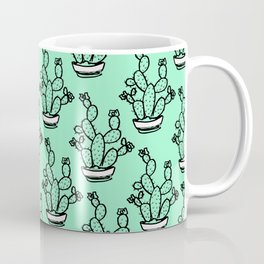 Cacti greenery mexican pattern Coffee Mug