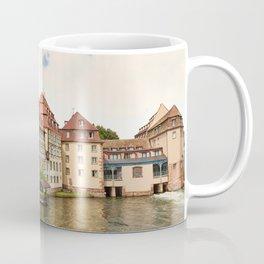 Strasbourg France Houses Clouds Cities Building Coffee Mug