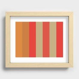 FOREVER : F(ulvous) O(chre) R(ed) E(cru) V(ermilion) E(Cru) R(ed) Recessed Framed Print