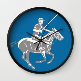 Polo pony and rider Wall Clock