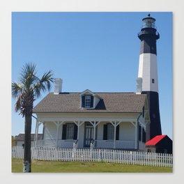 Tybee Island Light house Canvas Print