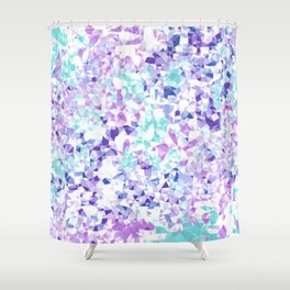 Colorful Triangles 2 Shower Curtain