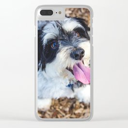 Happy Pup Clear iPhone Case