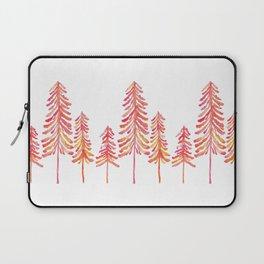 Pine Trees – Pink & Peach Ombré Laptop Sleeve