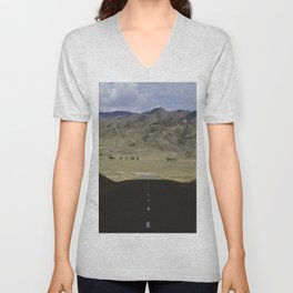 In the land of the Mongols Unisex V-Neck