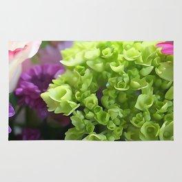 Mini Green Hydrangea Flower Bouquet Rug