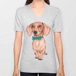 Dachshund, The Wiener Dog Unisex V-Neck