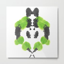 The Abstact Inkblot Heart Metal Print