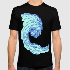 The Wave Black Mens Fitted Tee MEDIUM