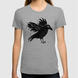 Black Edgar Poe Raven T-shirt