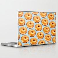 doughnut Laptop & iPad Skins featuring Glazed Doughnut Pattern by Kelly Gilleran