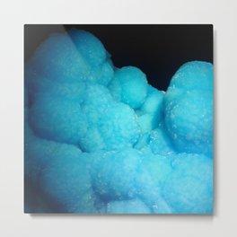 Dreamy Cotton Candy Blue Gemstone Metal Print