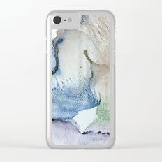 petals on rocks Clear iPhone Case