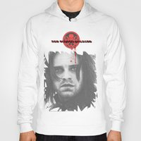 """bucky barnes Hoodies featuring Bucky Barnes """"The Winter Soldier"""" Portrait by thecannibalfactory"""
