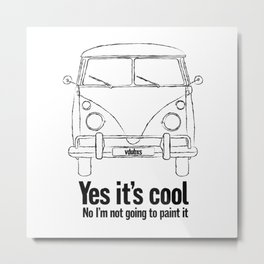 yes its cool… (no I'm not going to paint it) classic vintage camper van question! Metal Print