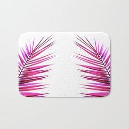 pink palm leaf II Bath Mat