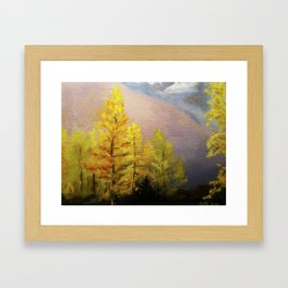 Autumn Tree Line Framed Art Print