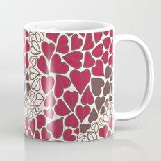 HEARTS  ~  CRIMSON, CLEAR, BROWN Mug