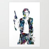 han solo Art Prints featuring Han Solo by NKlein Design