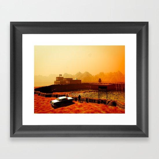 Mars National Monument Framed Art Print
