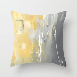 50 Shades of Grey and Yellow Throw Pillow