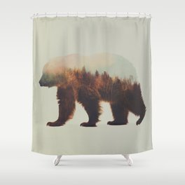 Norwegian Woods: The Brown Bear Shower Curtain