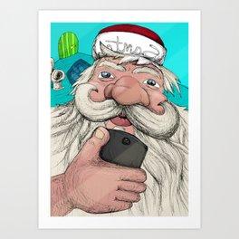 #santa#selfie Art Print